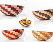 """15"""" x 6"""" Segmented Curly Maple and Your Choice Bowl Swirling Pattern"""