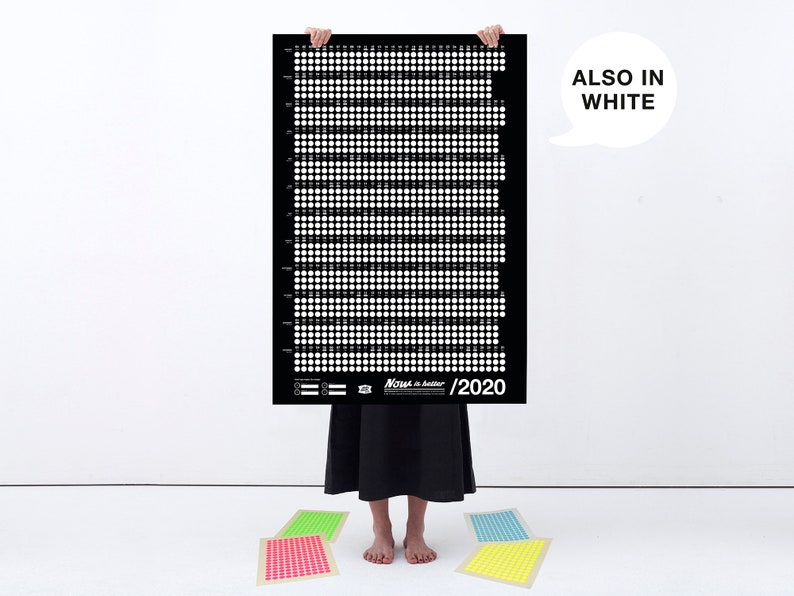 Wall Calendar 2020  Now Is Better  Black.  image 0