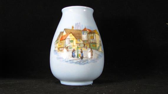 Lancasters Ltd Hanley English Ware Blue Bud Vase Olde English Etsy