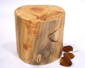 Aspen Wood Cremation Urn Small, Urns for Ashes.  Urns for Human Ashes, Cremation Urn Pet, Dog Urn.  Wood Urn Small Made in Colorado 45 lbs.