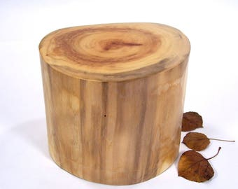 Aspen Tree Cremation Urn Small, Wood Cremation Urn for Ashes.  Memorial, Funeral & Burial Urns.  Wooden Urn Made in Colorado. 35 lbs.
