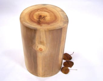 Aspen Tree Cremation Urn, Wood Cremation Urn for Ashes.  Memorial, Funeral & Burial Urns.  Wooden Urns Handmade in Colorado.  110 lbs.