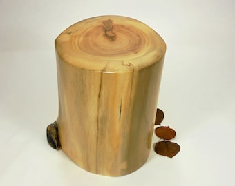 Aspen Tree Urn Small, Wood Cremation Urn for Ashes.  Wooden Urn Made in Colorado.  Holds up to 75 lbs. of body weight before cremation.