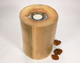 Aspen Tree Cremation Urn Small & Tea Light.  Wood Cremation Urn for Ashes.  Wooden Urns Handmade in Colorado.  75 lbs.