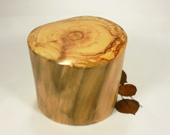 Aspen Tree Urn Small, Wood Cremation Urn for Ashes.  Wooden Urn Made in Colorado.  Holds up to 40 lbs. of body weight before cremation.