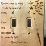 Whimsical Wooden Harry Potter Dumbledore Light Switch Plate