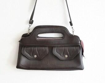 57b14e99a89dc Vintage Skai-Leder-Tasche