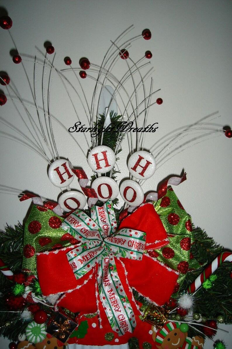 Screen Door Decor Christmas Swag Pine Teardrop Swag Christmas Decoration Santa Swag Holiday Swag Holiday Wreath