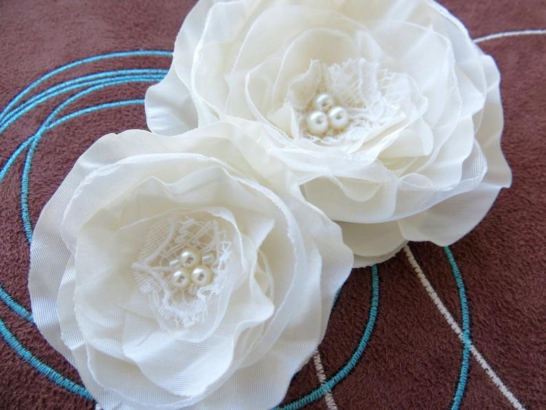 bridal hair clip Ivory wedding flower hair clip bridal hairpiece ivory bridal hair flower wedding hair flower wedding hair accessories