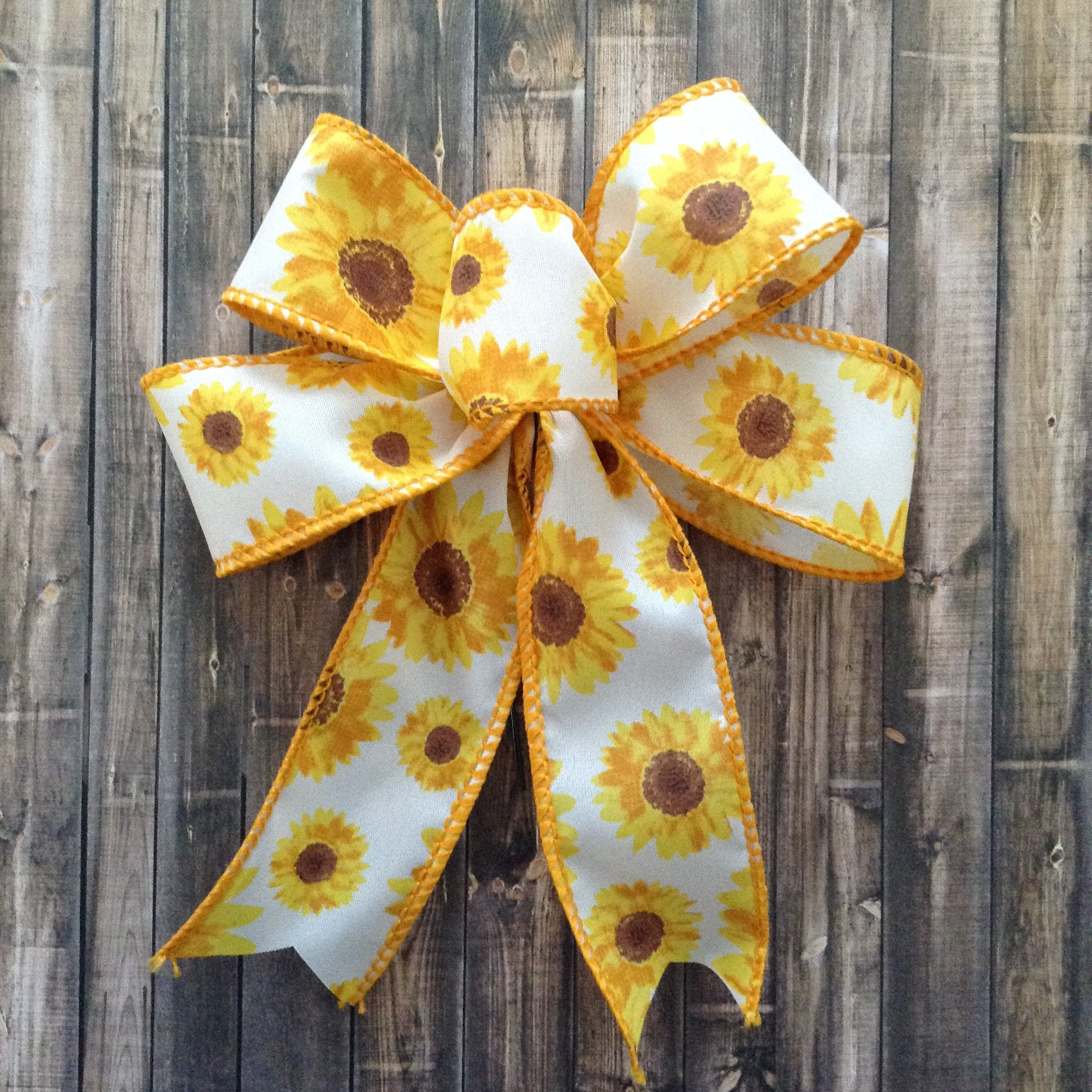 sunflower decorative bows sunflower small bows set of 9 etsy. Black Bedroom Furniture Sets. Home Design Ideas