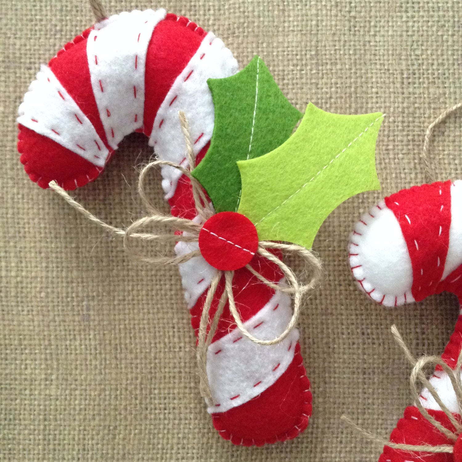 Candy Cane Ornaments / Christmas Tree Ornaments ...
