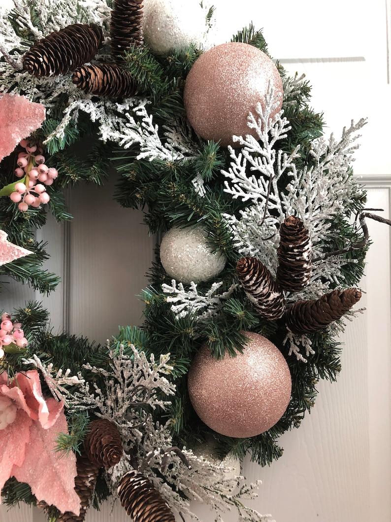 Christmas Wreath / Peach Christmas Wreath / Blush Color | Etsy