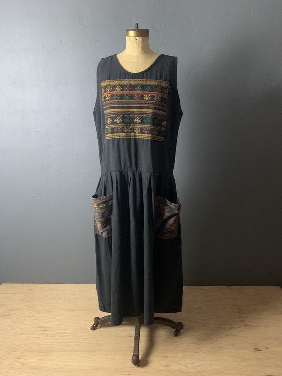Guatemalan woven tank dress
