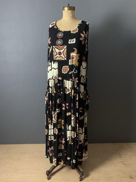 Artsy Indian crinkle gauze dress