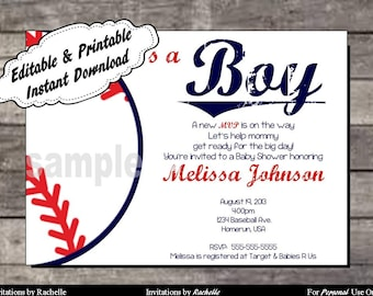 Baseball Baby Shower Invitations | Etsy