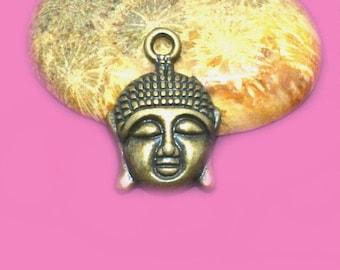 10 charms 22x15mm bronze Buddha