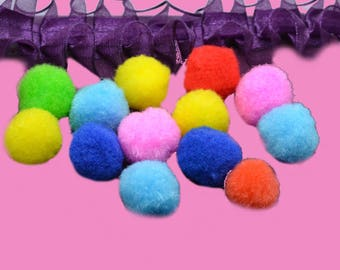 30 tassels colorful 20mm round