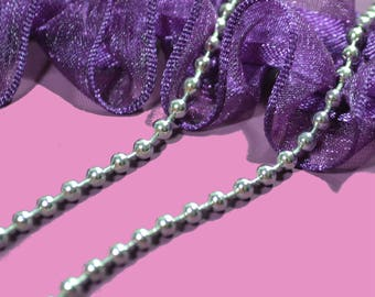 Ball chain 3.2 mm Platinum color