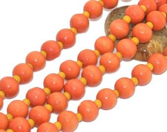 1 strand of 100 08mm wood beads orange
