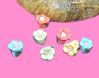 20 mini ceramic 05mm flowers