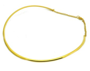 Steel Choker stainless 48cm color gold