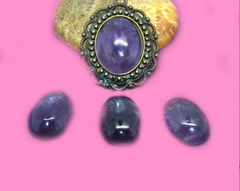 cabochon 13x18mm dark Amethyst