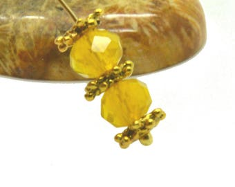 50 abacus 8mm yellow Opal faceted beads