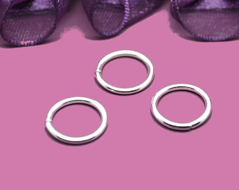 14mm silver jump rings