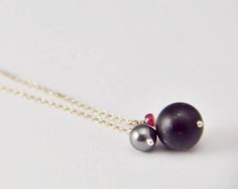Gemstone Mix Necklace - Delicate Sterling Silver Chain