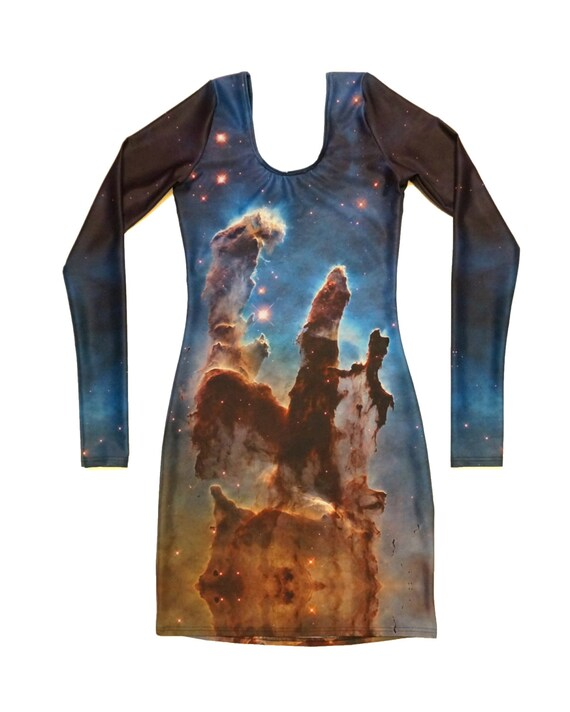 Space Nebula Longsleeve Bodycon Dress