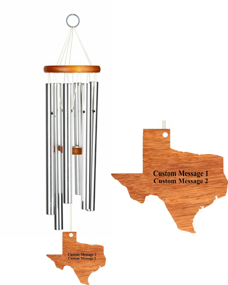 Personalized State Wind Chime - Home Sweet Home Wind Chime - Custom State  Gift - Engraved Wind Chime - Free Shipping
