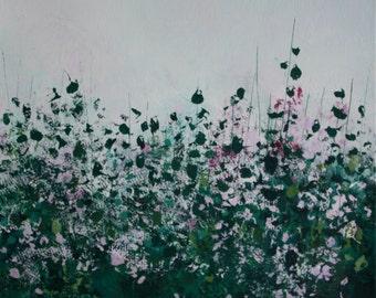 Rose bush: Acrylic on canvas 25cmx25cm
