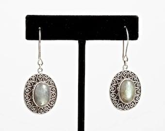 Labradorite 085 - Earrings - Sterling Silver