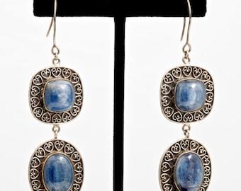 Kyanite 212 - Earrings - Sterling Silver & Kyanite