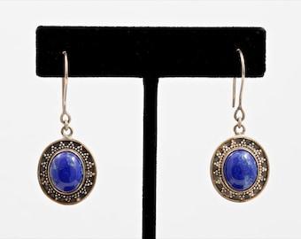 Lapis 198 - Earrings - Sterling Silver & Lapis Lazuli