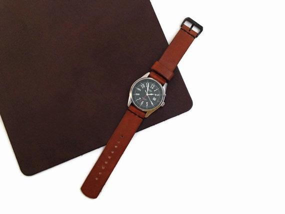 2 Lanière en cuir ceinture 100 x 2,0 marron foncé Fixation COURROIE considère Courroie