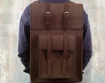 Leather backpack satchel Laptop backpack for men Leather back pack travel Men rucksack leather Computer backpack briefcase Shoulder bag men