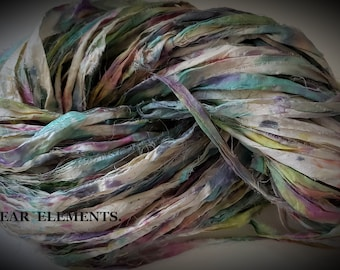 NEW! Hand Dyed Sari Silk, Painters Pallet 2, One Of A Kind Limited, 5 Yards,  Art Sari Silk Hand Dyed By ArtWear Elements®