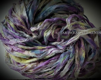NEW! Hand Dyed Sari Silk, Iris Mix, One Of A Kind Limited, 5 Yards,  Art Sari Silk Hand Dyed By ArtWear Elements®