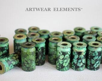 Bullet Shells, Victoria Verd, Art Beads, Primitive Art Shells, SizeS 45, 40, Primitive Art Shell Casings, Tassel Bead Caps, ArtWear Elements