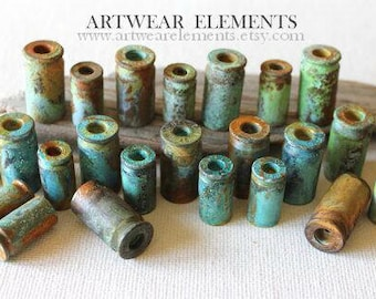 Bullet Shells, Primitive Art Shell Casings, Spent 45, 40, 9, Jewelry Supply, Bead Caps, Tassel Supplies, Once Fired Brass, ArtWear Elements®