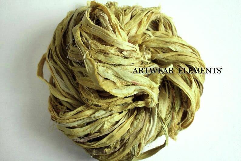 Recycled Sari Yarn Sunflower