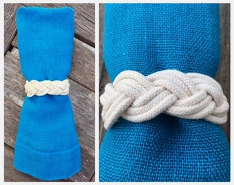 Nautical Rope Napkin Rings (set of 6)