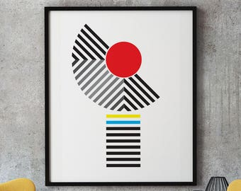 Cleanlines 3 - modernist art print