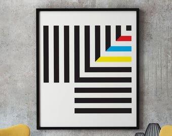 Cleanlines 1 - modernist art print