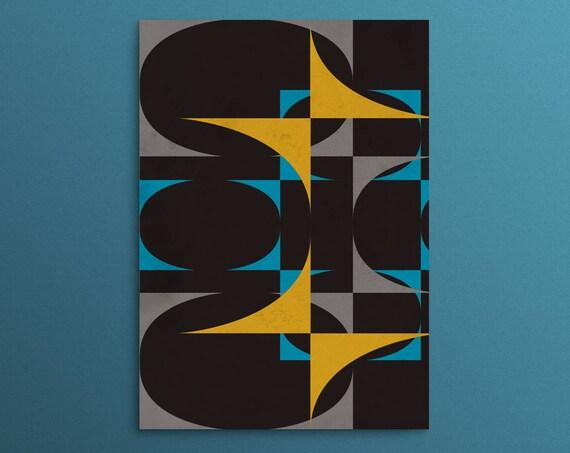 Tomorrows World - Geometric Retro Print