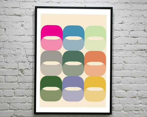 Hoops - Retro Art Print