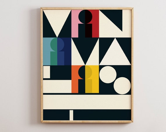 Minimalist - Abstract Mid Century Typography Art Print