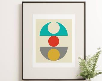 MCM16 - Funky affiche graphique rétro dans un Style de vie du Loft Vintage Scandi - Option de toile