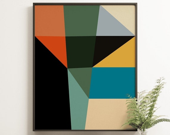 MCM09 - Abstract Mid Century Colour Print